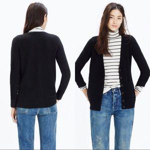 Madewell Black University Cardigan Sweater - med